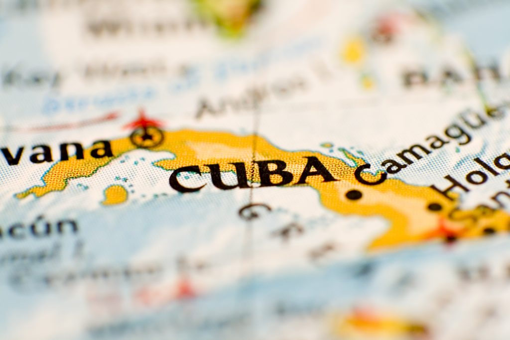 Cuba Map Close-up