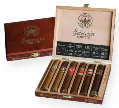 A Robusto 6's cigar selection