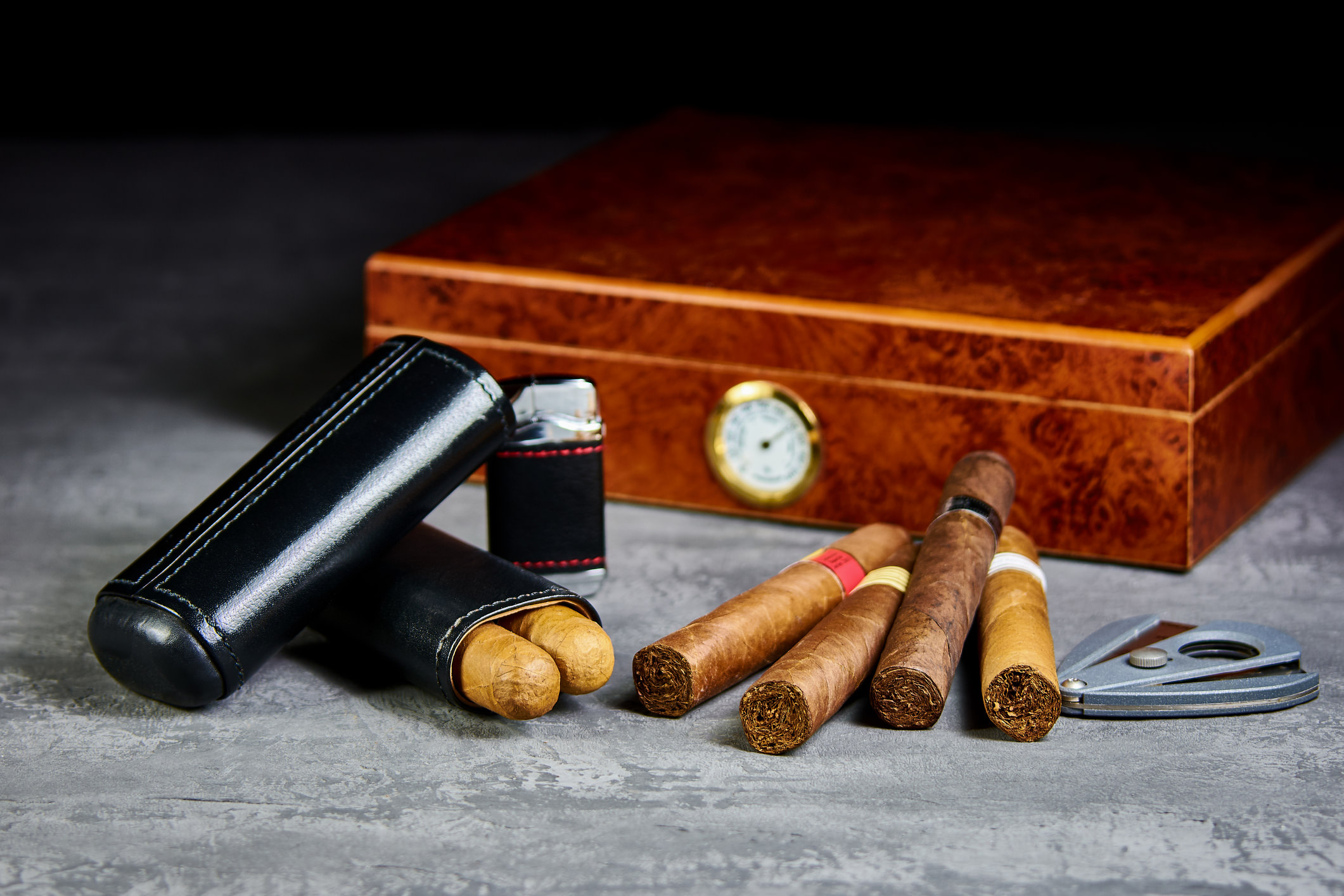 Cigars, a Cutter and a Humidor