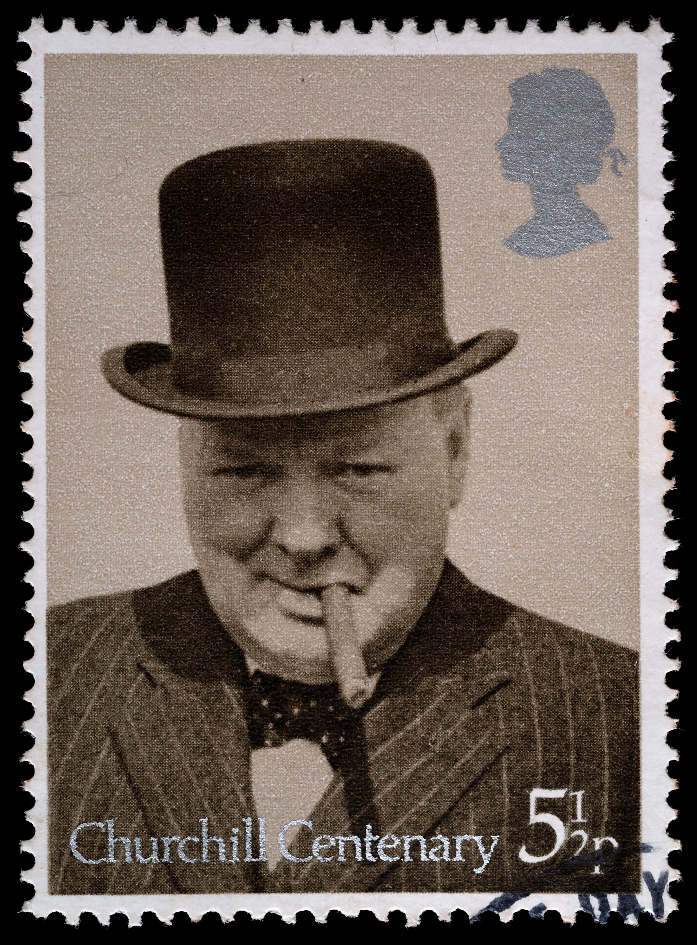 Winston Churchill Postage Stamp