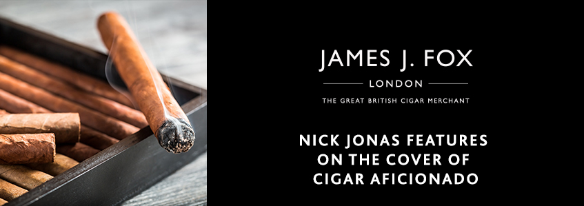 Nick Jonas Features on the Cover of Cigar Aficionado