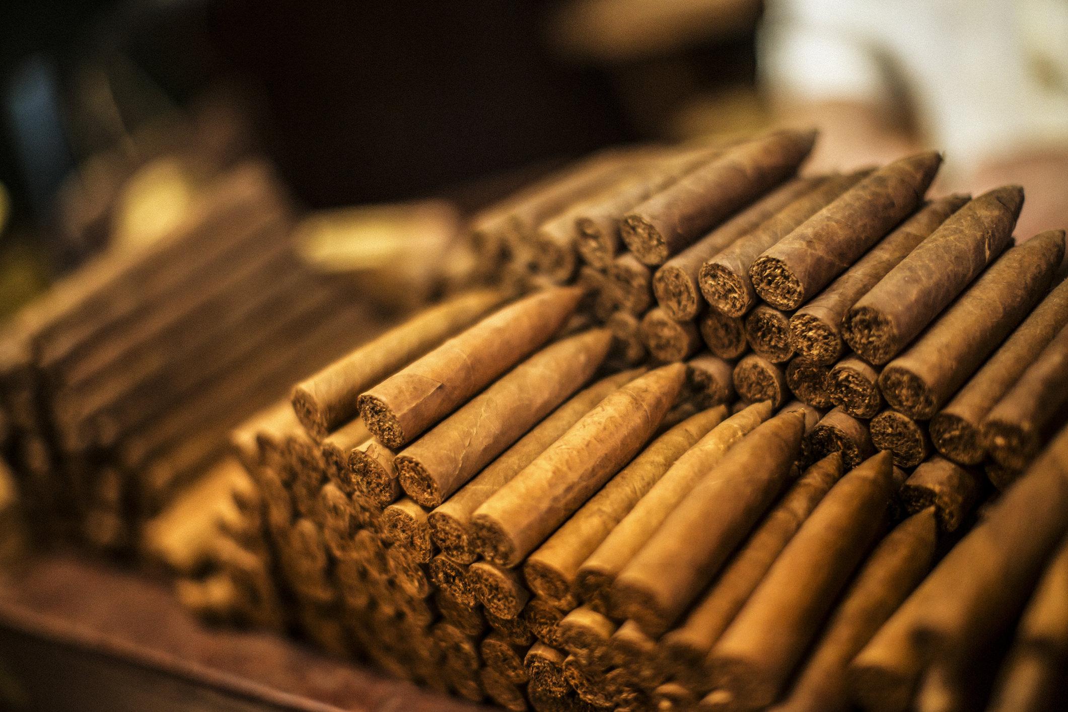 Cuban Cigars on a Shelf